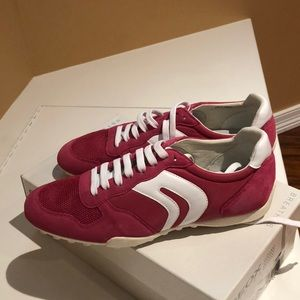 Geox Pink and white sneakers.
